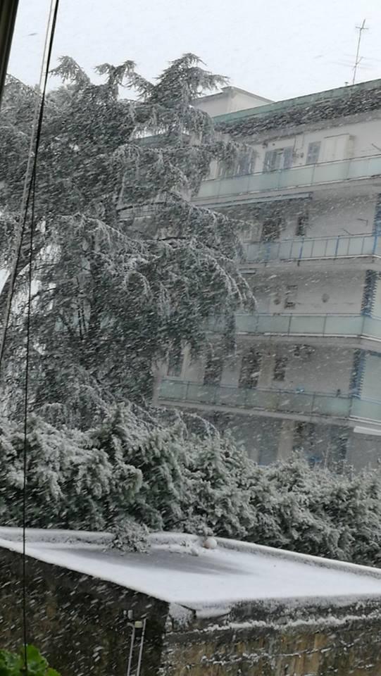 Melito di Napoli nevicata 1 26-02-18