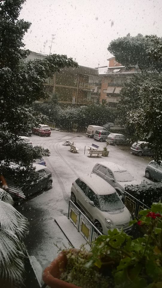 Melito di Napoli nevicata 2 26-02-18