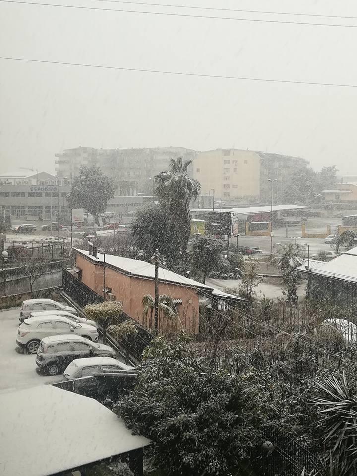 Melito di Napoli nevicata 4 26-02-18