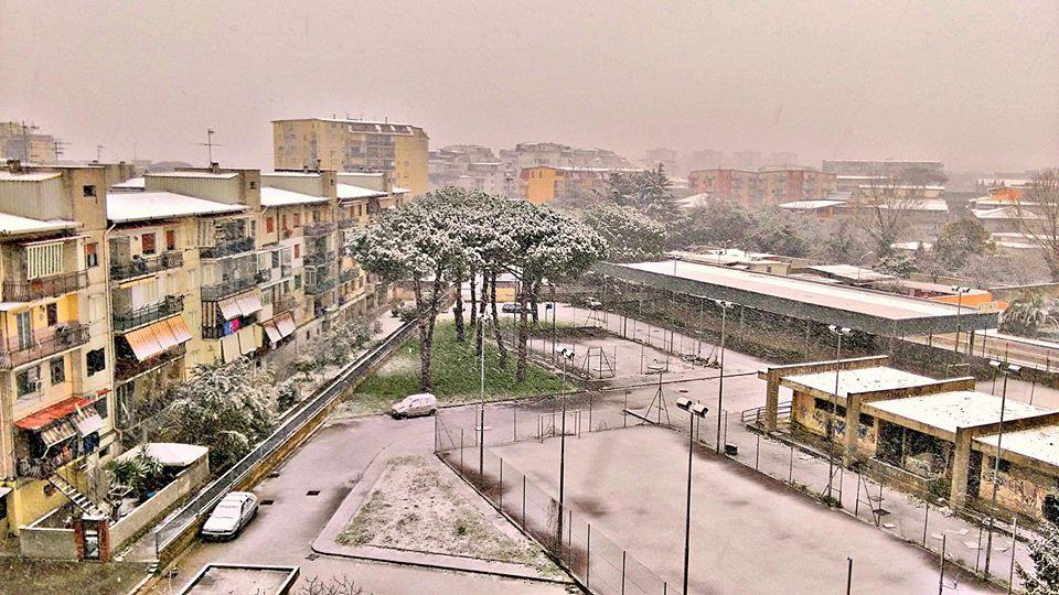 Melito di Napoli nevicata 6 26-02-18