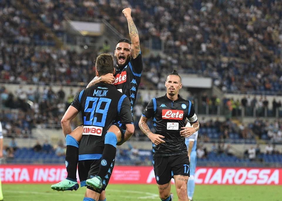 18-08-19 Lazio vs Napoli - Insigne esulta al gol vittoria