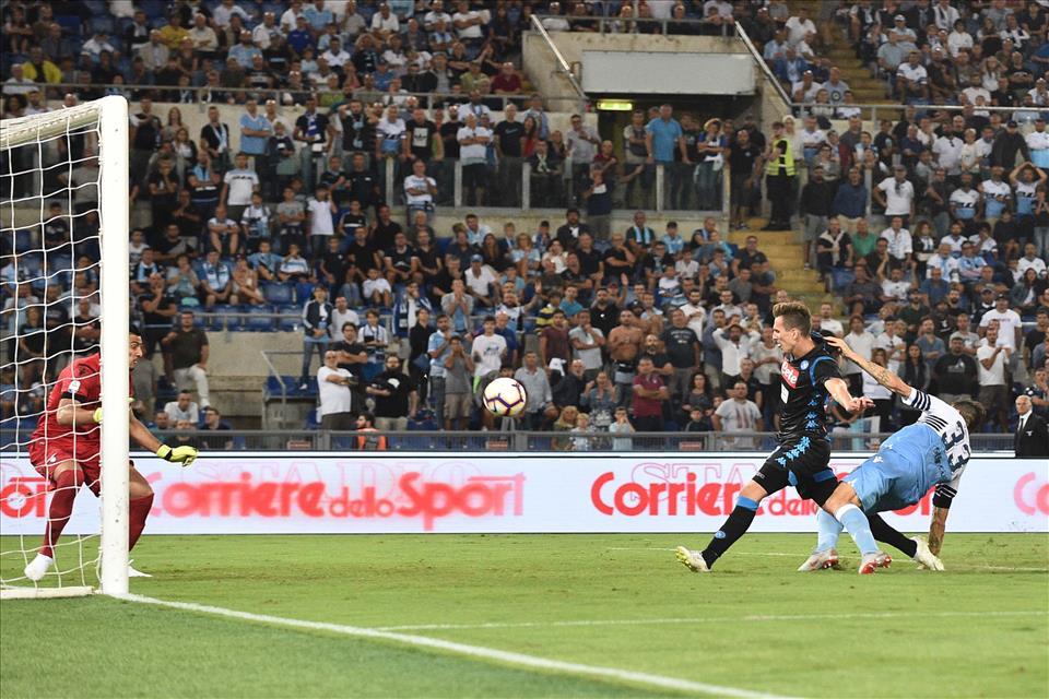 18-08-19 Lazio vs Napoli - il gol di Milik