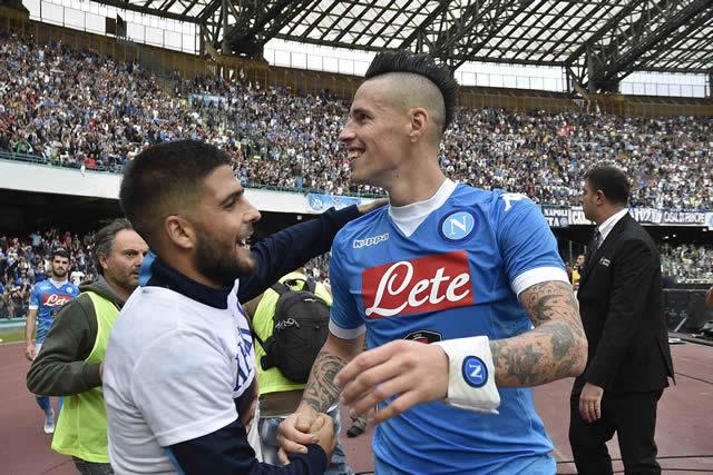 Napoli vs Fiorentina Hamsik Insigne