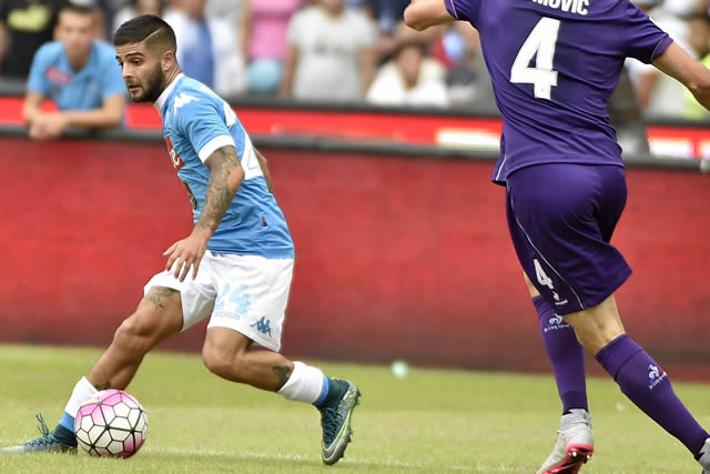Napoli vs Fiorentina Insigne