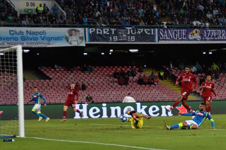 Napoli - Liverpool Insigne gol1 03-10-18