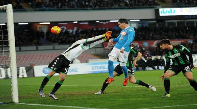 Napoli - Sassuolo - Callejon il gol