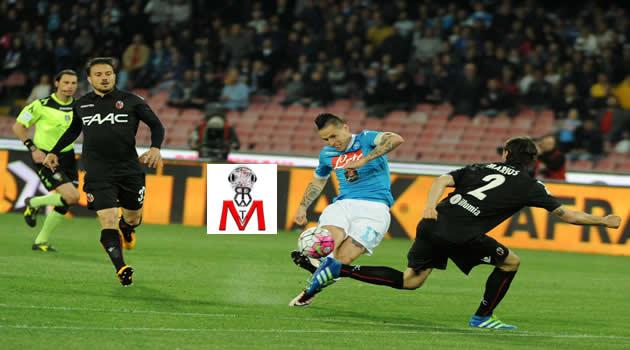 Napoli vs Bologna - Hamsik in azione