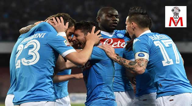 Napoli vs Bologna - esultanza al vantaggio