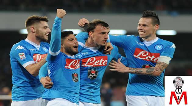 Napoli vs Chievo - Insigne Chiriches Lopez Hamsik