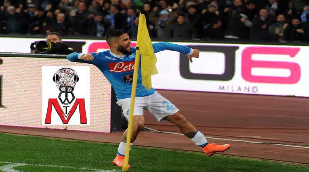 Napoli vs Milan - Insigne esulta al gol