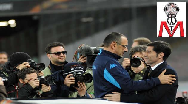Napoli vs Villareal - Sarri e Marcelino