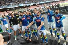 Napoli - Liverpool esultanza sotto la curva 03-10-18