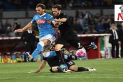 Napoli vs Bologna - Gabbiadini in azione