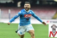 Napoli vs Empoli - Insigne esulta dopo il gol