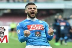 Napoli vs Empoli - Insigne esultanza dopo il gol