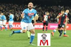 Napoli vs Genoa - Higuain esulta al gol
