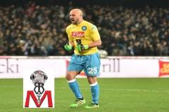 Napoli vs Milan - Reina