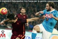 Napoli vs Roma - Manolas Higuain