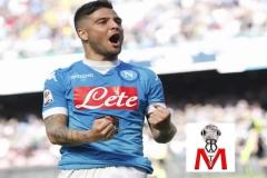 Napoli vs Verona - Insigne esulta al gol
