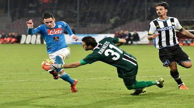 Napoli vs Udinese Callejon