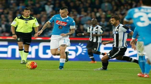 Napoli vs Udinese Hamsik
