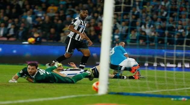 Napoli vs Udinese il gol