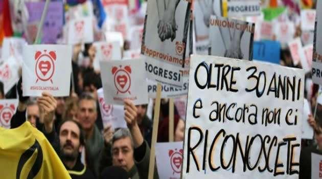 Manifestazione unioni civili