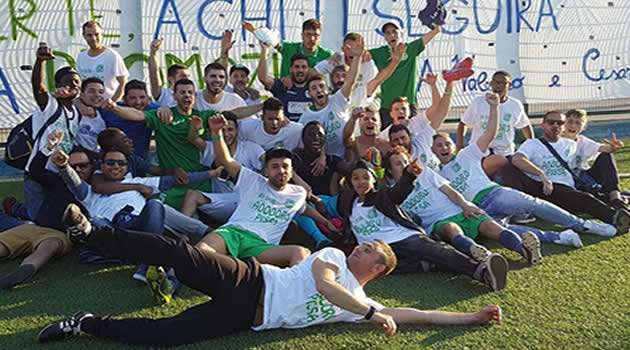 Afro-Napoli United festa promozione