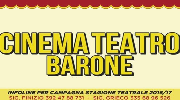 cine teatro Barone - stagione teatrale
