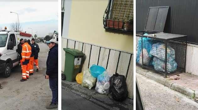 Sant'Antimo - rifiuti in strada