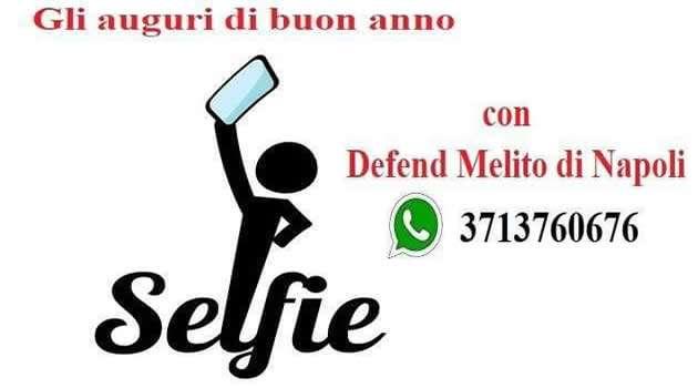 auguri fine anno selfie