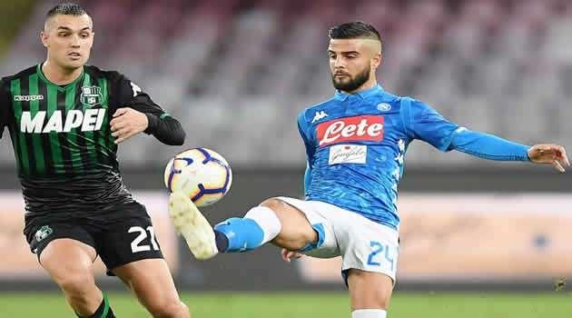 Napoli vs Sassuolo - Insigne