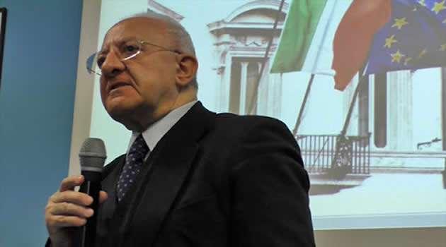 Presidente Regione Campania De Luca