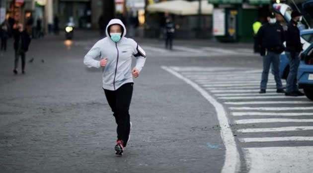 vietato passeggiare e fare jogging
