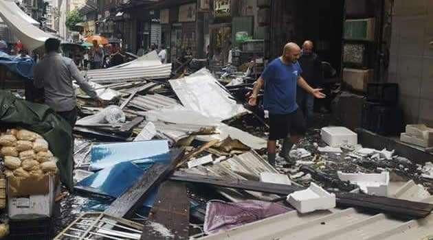danni del violentissimo temporale su Napoli