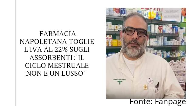 """Farmacia napoletana toglie l'IVA al 22%:""""Il ciclo mestruale non è un lusso"""""""