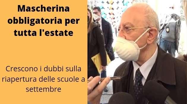 Napoli, cronaca. Mascherina obbligatoria per tutta l'estate in Campania