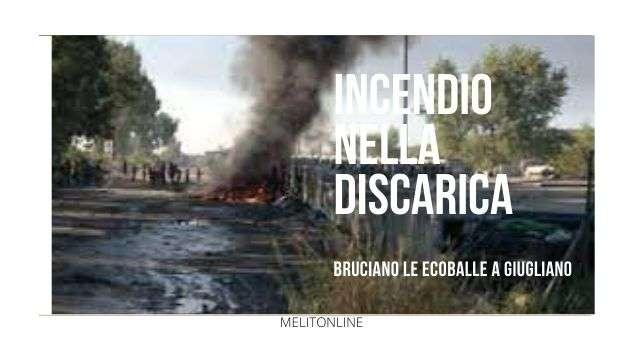 Incendio nella discarica di Masseria del Pozzo