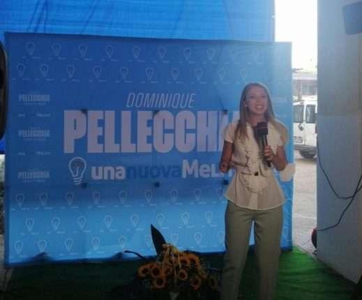 Dominique Pellecchia inaugurazione comitato Melito