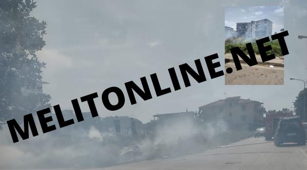 Melito. Incendio in Via Lisbona: aumentano i disagi per i melitesi