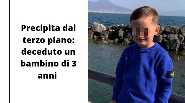 Precipita dal terzo piano: deceduto un bambino di 3 anni